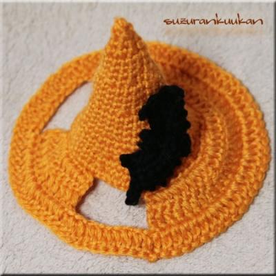 ハロウィン帽子047<橙>
