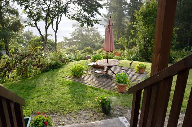 2①朝の庭