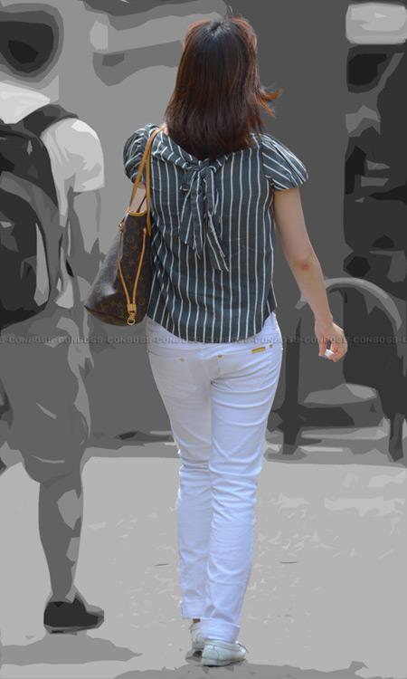 vol240-むっちりぴちぴちタイトなホワイトパンツ