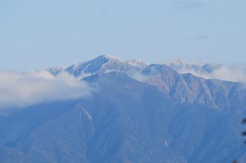 木曽駒ケ岳が見えた