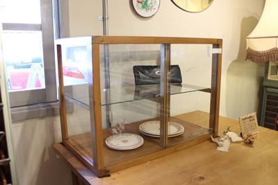卓上 ショーケース ガラスケース レトロ ディスプレイ 木枠 アクセサリーケース