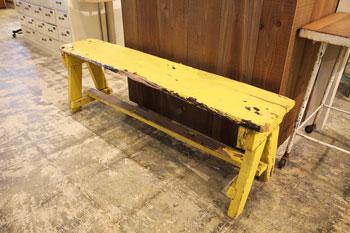 ベンチ シャビーシック 木製ベンチ ペイント ディスプレイ