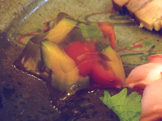 彩り野菜のゼリー寄せ