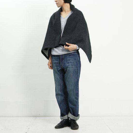 ina (イナ) 2重織りストライプワッシャーピン付き巻きスカート