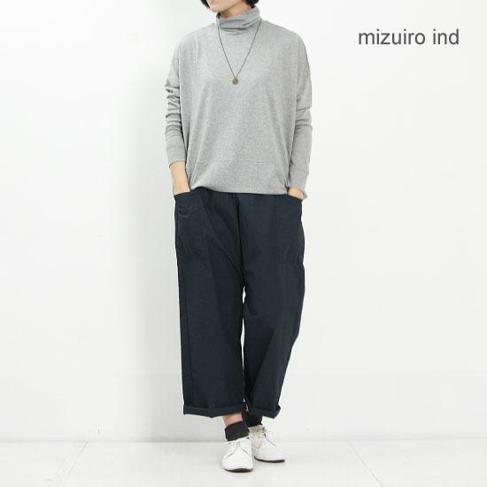 mizuiro ind (ミズイロインド) タートルネックシームプルオーバー