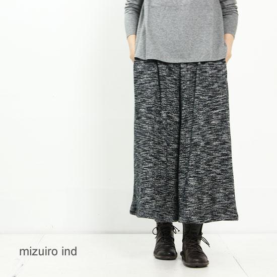 mizuiro ind (ミズイロインド) スウェットワイドイージーパンツ