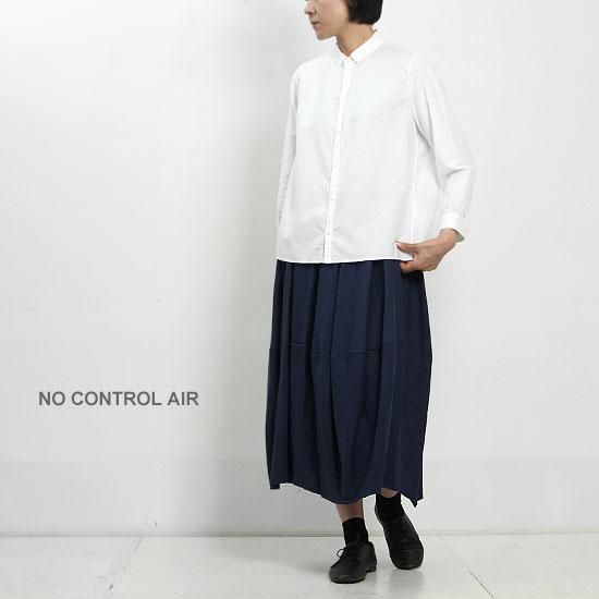NO CONTROL AIR (ノーコントロールエアー) テンセル平織り起毛ブラウス