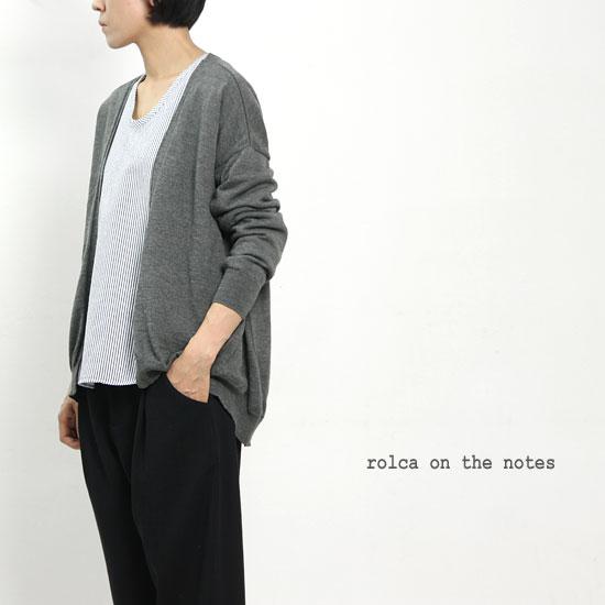 rolca on the notes (ロルカオンザノーツ) コットンウールカーディガン