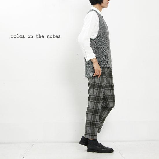 rolca on the notes (ロルカオンザノーツ) ストレッチフラノチェック8分丈パンツ