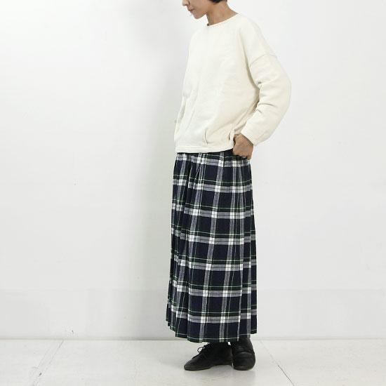 style + confort (スティールエコンフォール) スウェード裏毛タックプルオーバー