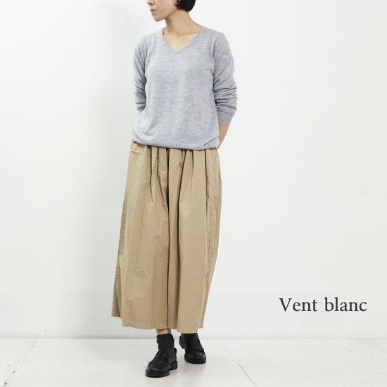Vent Blanc (ヴァンブラン) ツイルタックワイドパンツ