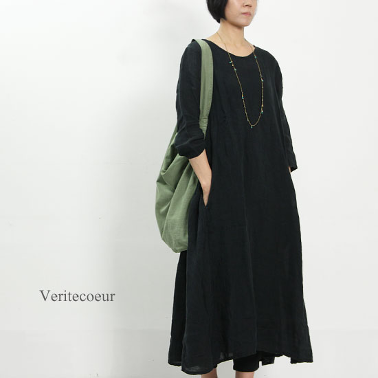 Veritecoeur (ヴェリテクール) リネンボイルガーゼドレス