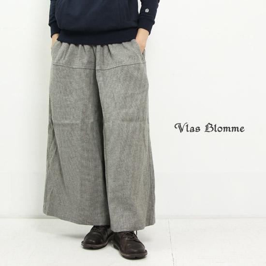 Vlas blomme (ブラスブラム) パネルボーダークラシックキュロットパンツ
