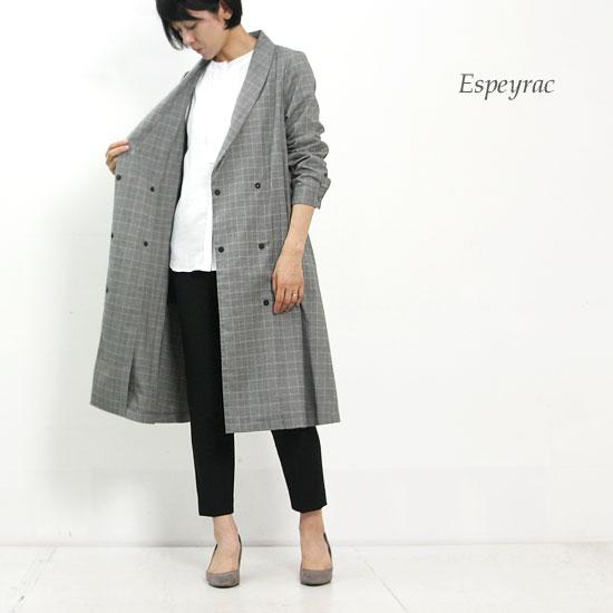 ESPEYRAC (エスペラック) グレンチェックローブコート