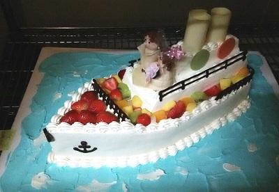 船型ウェディングケーキ20151003