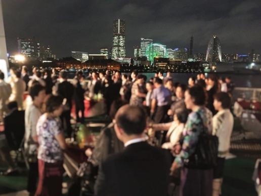 横浜 大さん橋 船上パーティー