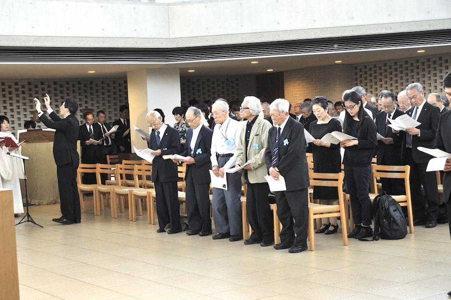 2_追悼ミサの学徒動員卒業生