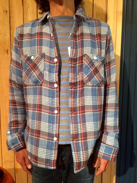 GJ ダブルガーゼチェックシャツ2