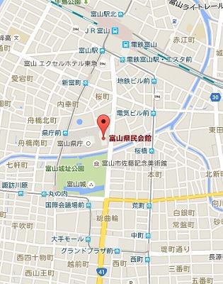 富山県民会館MAP