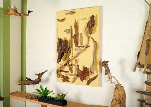 森のキャンバス(流木で描く山水画)#8-2