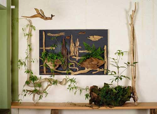 森のキャンバス(流木で描く山水画)#9-1