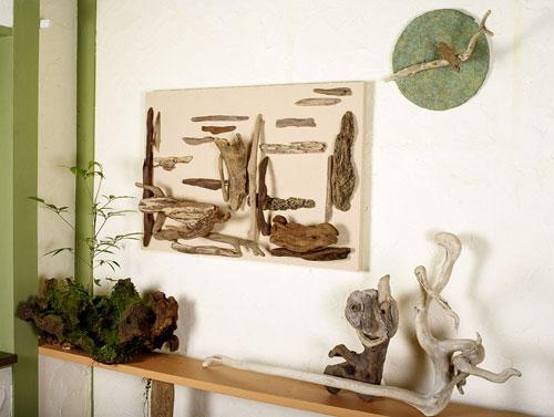 森のキャンバス(流木で描く山水画)#6-2