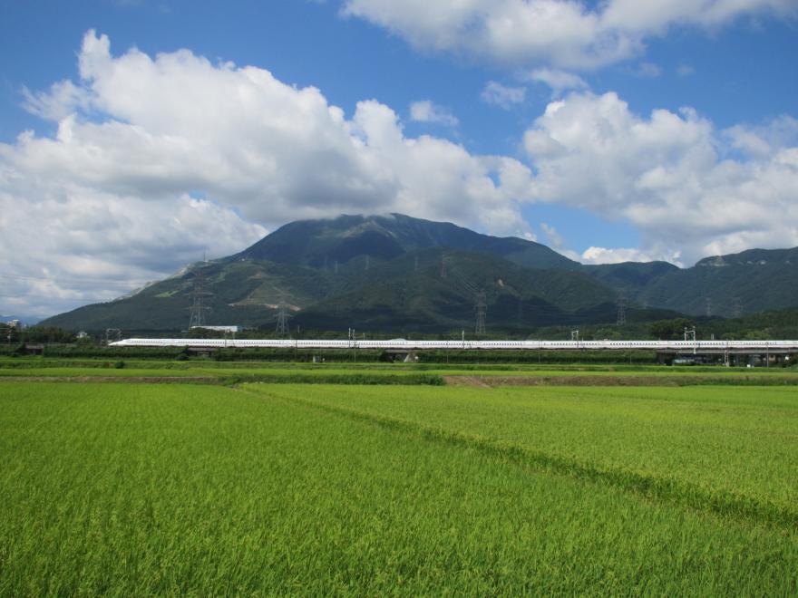東海道新幹線と伊吹山2