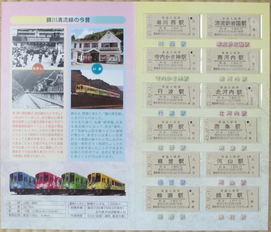 錦町駅開業50周年記念全駅入場券2