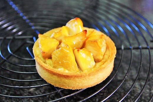 りんごとさつま芋のタルト