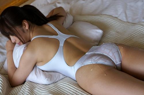 初美沙希 Eカップ AV女優 濡れ透け競泳水着 16