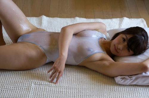 初美沙希 Eカップ AV女優 濡れ透け競泳水着 27