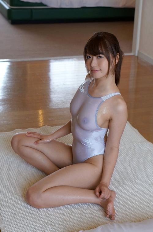 初美沙希 Eカップ AV女優 濡れ透け競泳水着 29