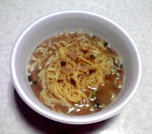 驚愕の麺1.5玉 濃コク魚介豚骨醤油ラーメン(できあがり)