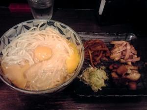 綿麺 フライデーナイト Part96 (15/9/25) 釜玉そば