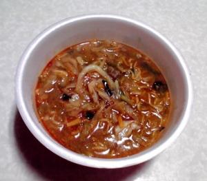 大人のこだわり 野菜がたっぷり熟成味噌ラーメン ピリ辛(できあがり)