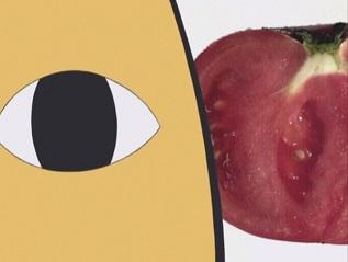 12トマトを食べるんだ