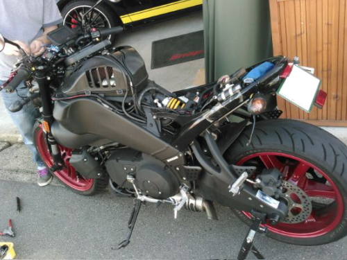 BUELL XB12ScgにPZレーシング・ギアインジケーター