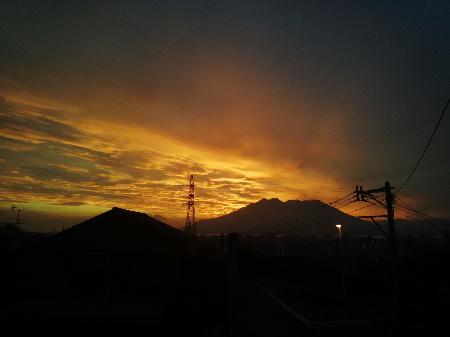 8月24日の朝焼け