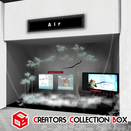Secondlife Creators Collection Box in Air