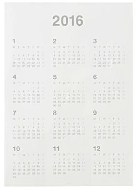 2016無印ポスターカレンダー