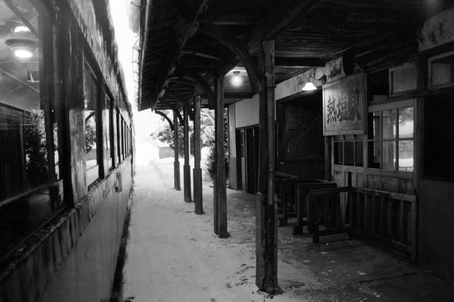 日中線 熱塩駅のホーム8 1984年2月 日 16bitAdobeRGB原版 take1b