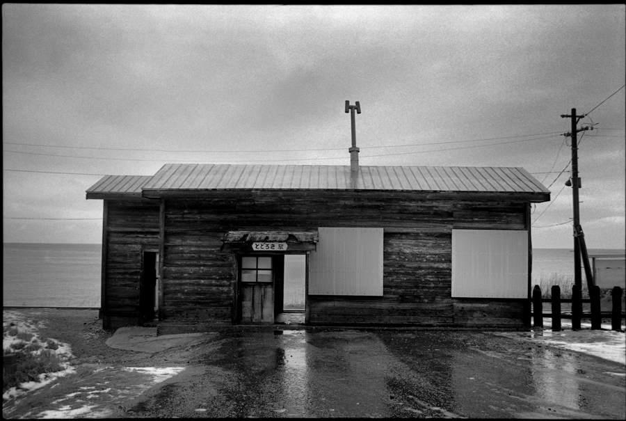 五能線 冬の驫木駅21 1986年12月31日 X970 AdobeRGB16bit 原版take1b2