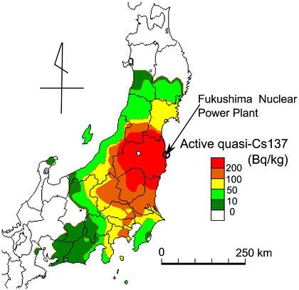 最新核汚染地図日本