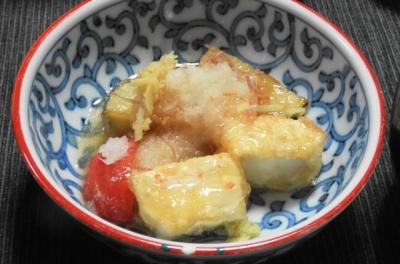 揚げ豆腐と夏野菜の煮浸し 小鉢