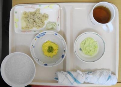 入院初日 夕食(おかゆ・刻み食 標準)