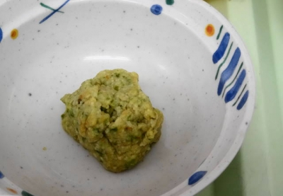 刻み食のサラダ