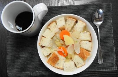 翌朝の朝食