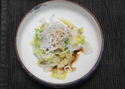白菜とシラスの煮浸し
