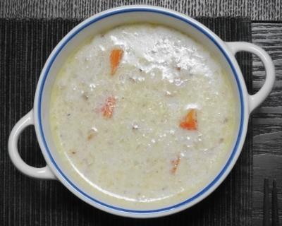 彩り野菜のクリームスープ