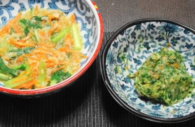 小松菜と人参の炊いたん
